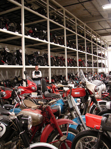 This is the room you don't see - the bikes waiting to be restored