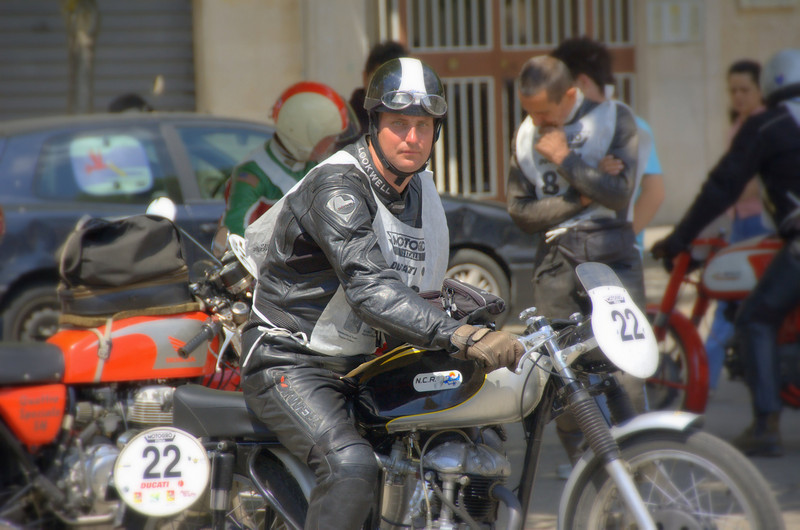 Rich and the 125 in action in Sicily