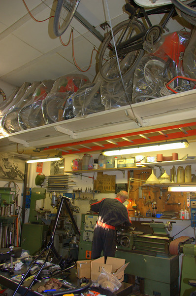 In the eves are tucked away the history of three lifetimes - literally - many of the bikes were from Stefano's riding career. The rest from Rino and Giorgio's