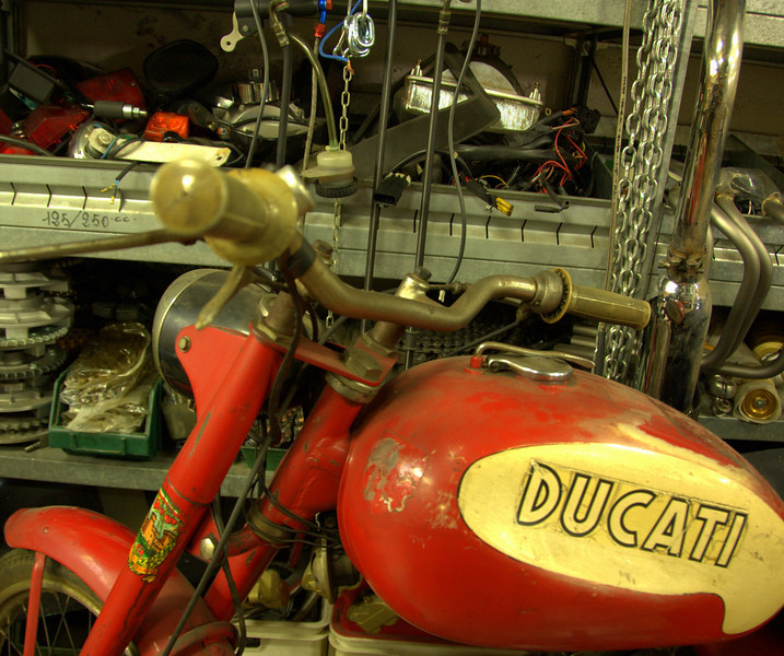 Giorgio Nepoti's (Rino's lifelong partner) little Ducati single