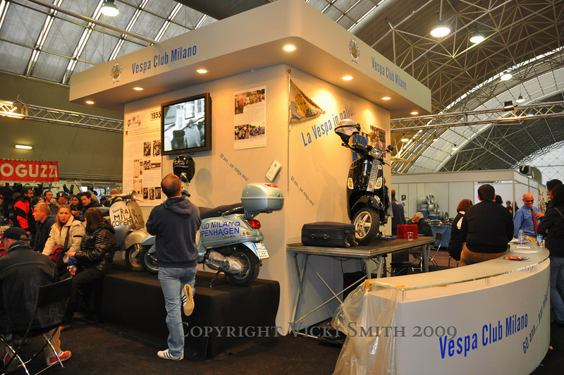 The Vespa Club Milan had a huge, professional display