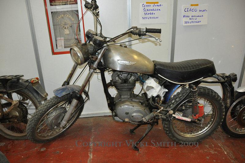 This Ducati Scrambler was for sale.  Parts for these are plentiful, what's not still left is now remanufactured.