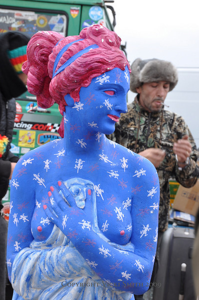 And this blue lady with upgraded matching  fingernails and optional nipples (Smoking Russian not included)