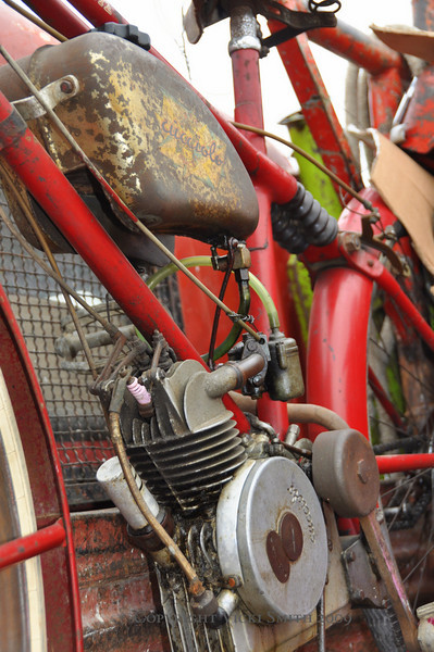 """Vintage motorcycles are all about """"Patina"""", and to serious collectors, a gem of a Cucciolo like this is more desirable than a shiny restored bike"""