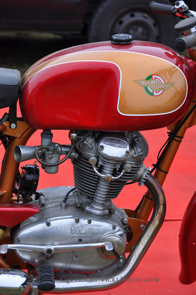 It's a great place to find mainstream treasures as well.  We attend every year and this year the fair was well populated with nicely done bikes like this Ducati for sale.