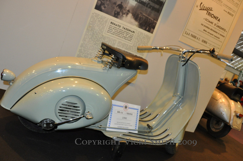 "That's a 1946 Vespa.  It's the original ""Wasp"" and is worth about $50,000"