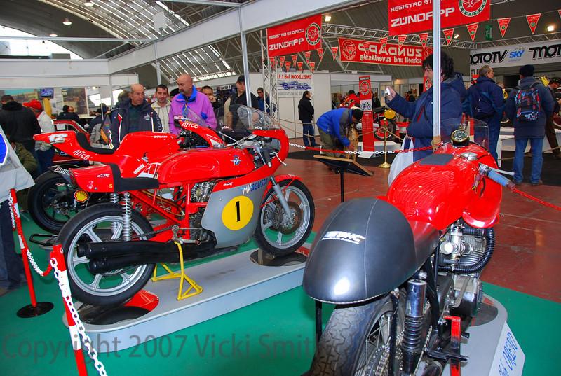 That's the FMI display. The bike on the far end is the Loris Cappirossi #65 Motogp Ducati