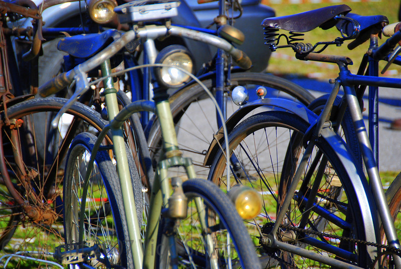 Bicycles were in the minority, but there were still plenty to choose from