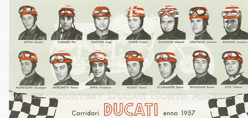 Ducati race lineup 1957