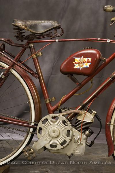 "1946 Siata powered, Ganna framed ""Cucciolo"". Steve Hatfield Owner"