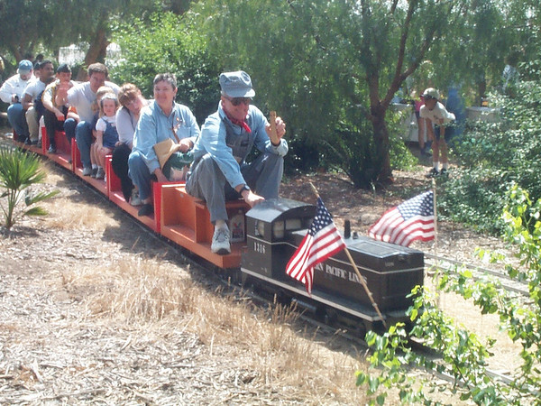 Engineer Bob Burtness hauls Depot Day passengers aboard the Goleta Short Line train, pulled by Engine No. 1316.