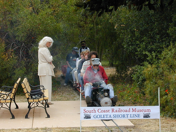 Opening of the expanded miniature train ride took place during Rotary Day 2007. Ed Leska Photograph.