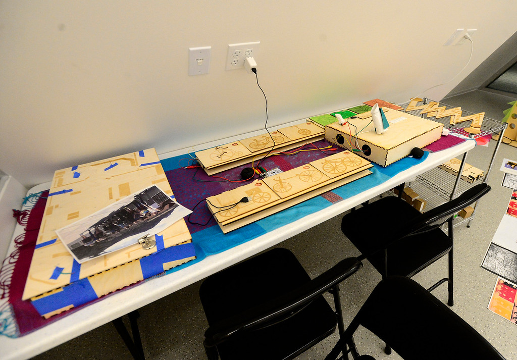 . The Google Garage Makerspace exhibit at The Museum of Boulder�. For more photos go to dailycamera.com Paul Aiken Staff Photographer May 15, 2018