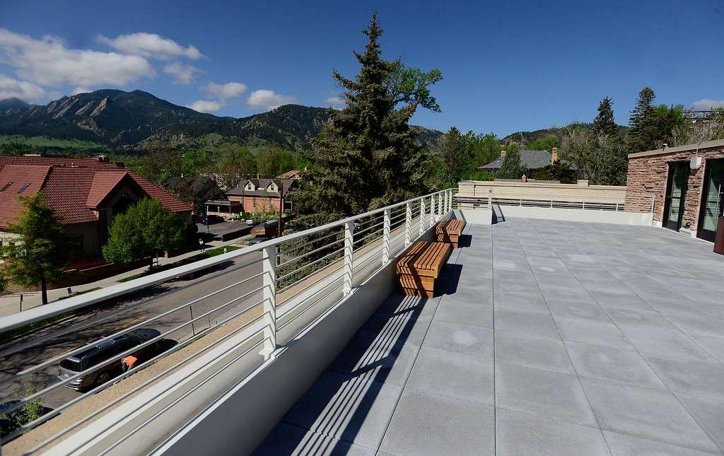 . The rooftop deck of The Museum of Boulder� on Tuesday. For more photos go to dailycamera.com Paul Aiken Staff Photographer May 4, 2018