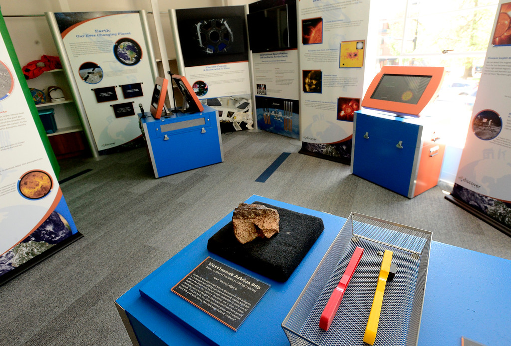 . Discover NASA: From Our Town to Outer Space exhibit at The Museum of Boulder�. For more photos go to dailycamera.com Paul Aiken Staff Photographer May 15, 2018