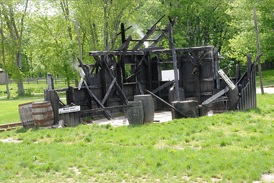 Storehouse burned by Morgan's raiders in DuPont, IN