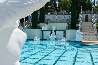 Statues around Neptune pool, Hearst Castle