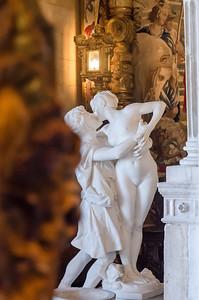 Stolen kiss at Hearst Castle