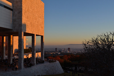 Sunset at the Getty Center, Los Angeles, CA