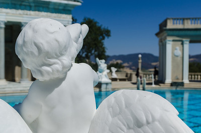 Neptune pool, with statue, Hearst Castle