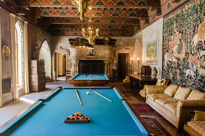 Billiard Room, Hearst Castle