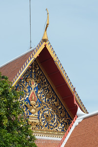 Phra Phrom (Brahma) on a Swan, West Pediment of Siwamokkhaphiman Hall, National Museum Bangkok