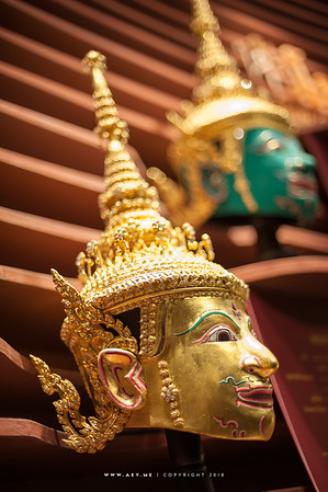 The Mask of Lakshmana, Khon (Thai Pantomime)  from the Story of Ramayana