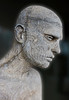 Detail of the Zombie Boy's tattooed head.