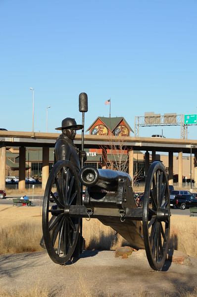 Oklahoma Land Run Sculptures