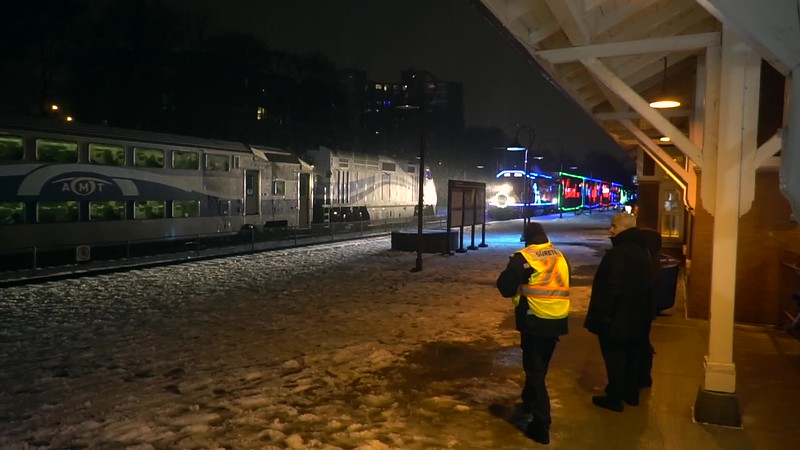 Arrival of the CP Holiday TRain
