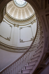 elegant historic stairwell in Baltimore