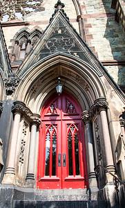 Mount Vernon Place Methodist's red front door