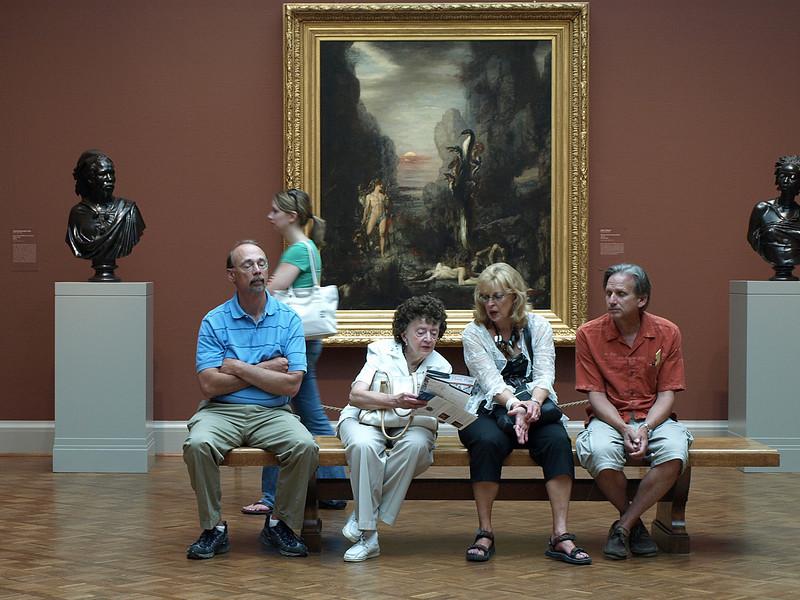 """Where to next?"" Art Institute of Chicago, Chicago, Illinois, June 28, 2008."
