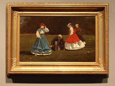 Winslow Homer, Croquet Scene, 1866. Art Institute of Chicago, Chicago, Illinois, June 28, 2008.