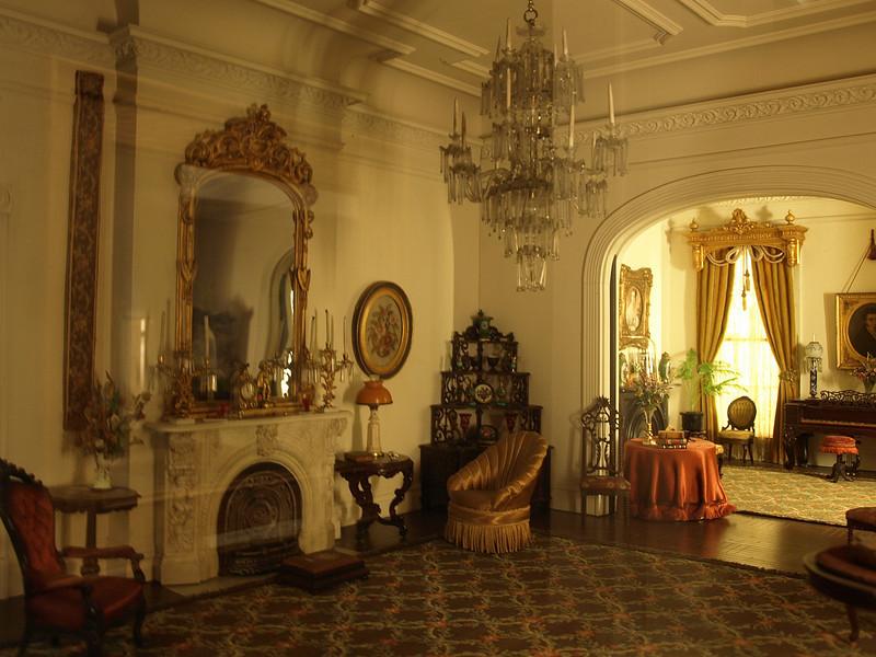 Thorne Miniature Room,  Georgia Double Parlor, c. 1850, c. 1940. Art Institute of Chicago, Chicago, Illinois, June 28, 2008.
