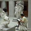 Sketching in the American Sculpture Gallery, Art Institute of Chicago, Chicago, Illinois, June 28, 2008.