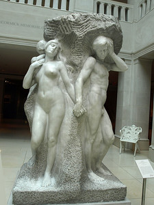 Lorado Taft, The Solitude of the Soul, 1914. Art Institute of Chicago, Chicago, Illinois, June 28, 2008.