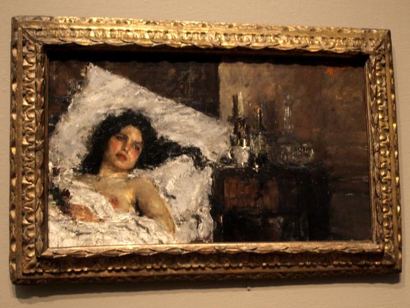 Antonio Mancini, Resting, c. 1887. Art Institute of Chicago, Chicago, Illinois, June 28, 2008.