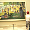 Looking at A Sunday on La Grande Jatte--1884 by Georges Seurat, Art Institute of Chicago, Chicago, Illinois, June 28, 2008.