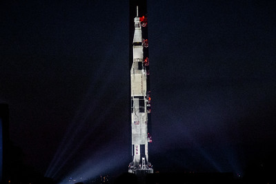 Apollo 11 on the Washington Monument
