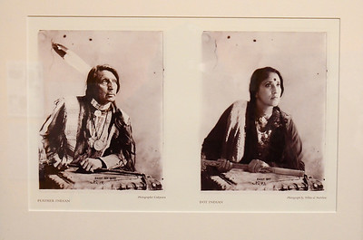 """Beyond Bollywood exhibition at the  National Museum of Natural History Washington DC March 2014.  Annu Palakunnathu Mathew, """"Feather Indian/Dot Indian,"""" 2004, from her series, """"An Indian from India."""""""