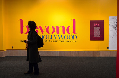 "Beyond Bollywood exhibition at the  National Museum of Natural History Washington DC March 2014.  ""Beyond Bollywood: Indian Americans Shape the Nation is an inspirational look at the history and contributions of a community that uniquely merges Indian and American culture.""  http://www.sites.si.edu/exhibitions/exhibits/beyondbollywood/"