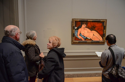 Sketching Modigliani at the National Gallery of Art in Washington, DC.