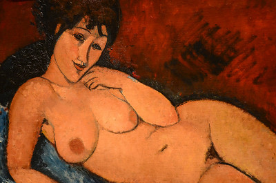 Modigliani nude, detail, at the National Gallery of Art in Washington, DC.