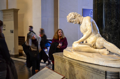 Up close with he Dying Gaul at the National Gallery of Art in Washington, DC.