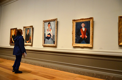 Modigliani portraits at the National Gallery of Art in Washington, DC.