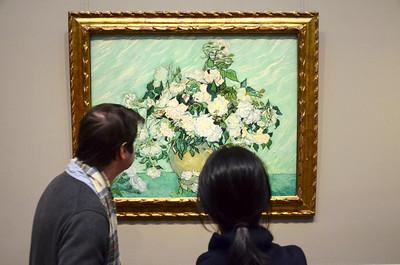 Enjoying a Van Gogh still life at the National Gallery of Art in Washington, DC.