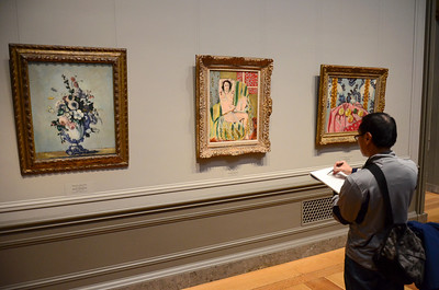Sketching Matisse at the National Gallery of Art in Washington, DC.