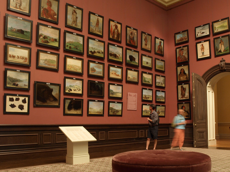 In George Catlin's Indian Gallery at the Renwick Gallery of the Smithsonian American Art Museum.