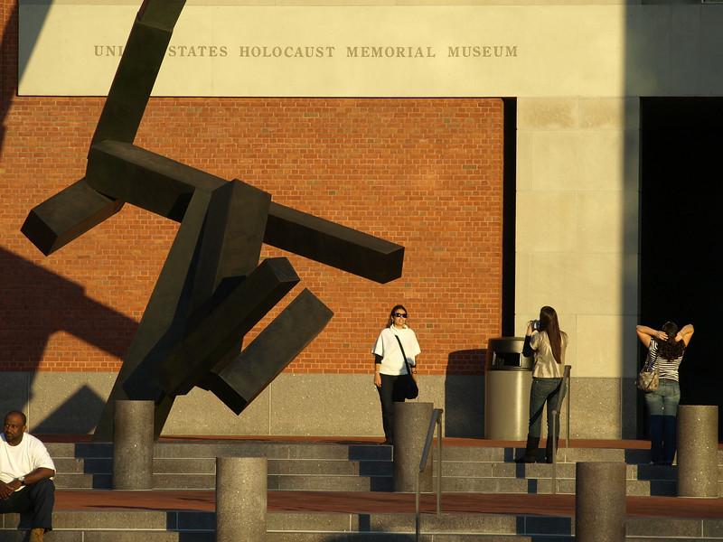 At the Holocaust Memorial Museum, Washington, DC.